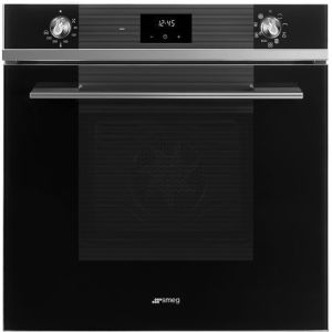 Smeg Linea SF6100TVN1 Built In Electric Single Oven - Black - A Rated AO SALE