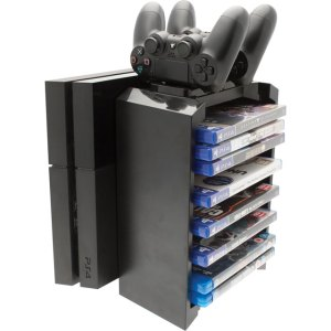 Venom Game Storage & Twin Charger For PlayStation 4 - Black  AO SALE