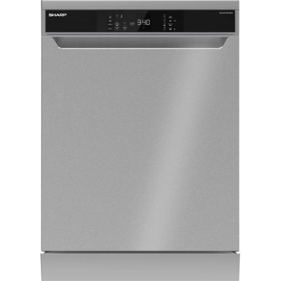 Sharp QW-NA1DF45EIO-EN Standard Dishwasher - Stainless Steel - A++ Rated