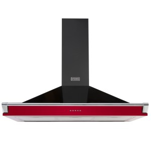 Stoves S1100RICHCHIMRAILHJA 110cm Chimney Hood With Rail - RED