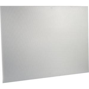 Non-Branded SBK100 100 cm Metal Splashback - Stainless Steel
