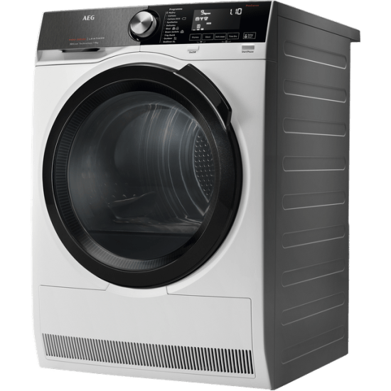 AEG T9DEB969C Wifi Connected 9Kg Heat Pump Tumble Dryer - White - A+++ Rated