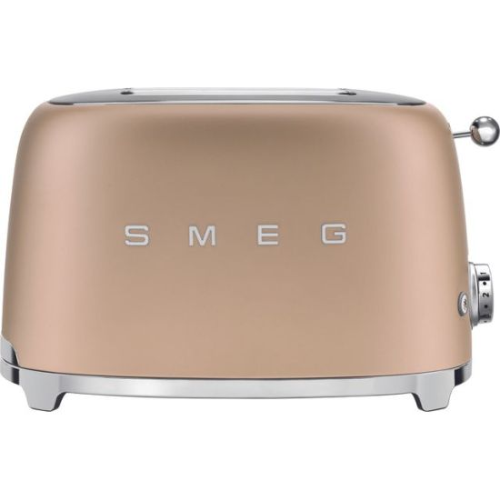 Smeg 50's Retro TSF01CHMUK 2 Slice Toaster - Matte Gold