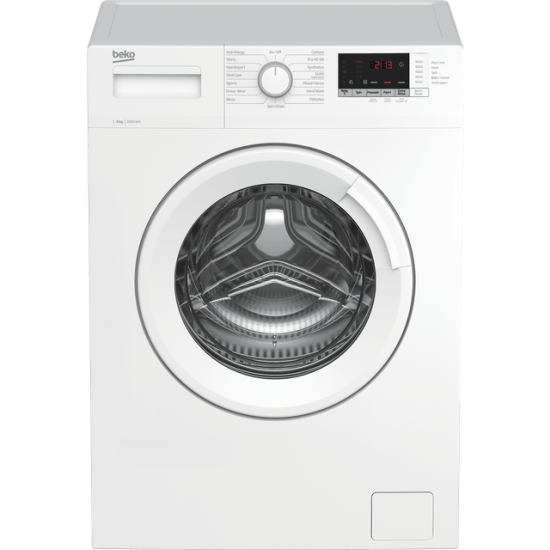 Beko WTK84151W 8Kg Washing Machine with 1400 rpm - White - A+++ Rated