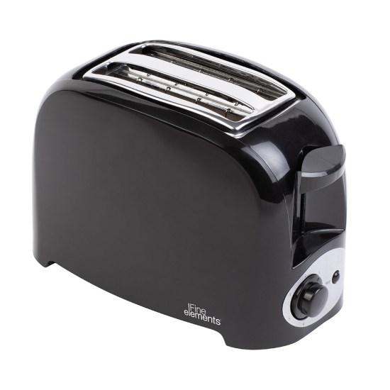 Fine Elements SDA1674 1500W 2-Slice Plastic Toaster - Black
