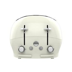 The Funky Appliance Company FT01CREAM 1750W 4-Slice Toaster - Cream