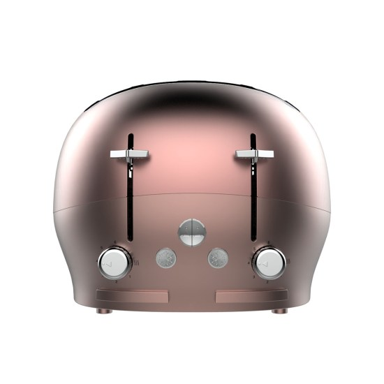 The Funky Appliance Company FT01ROSEGOLD 1750W 4-Slice Toaster - Rose Gold