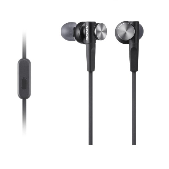 Sony Extra Bass Heaphones with built in Mic - Black