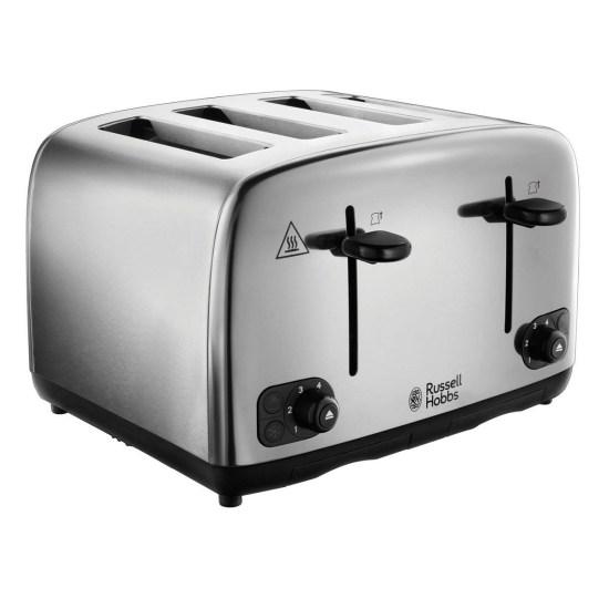 Russell Hobbs 24090 Toaster 4 Slice - Stainless Steel