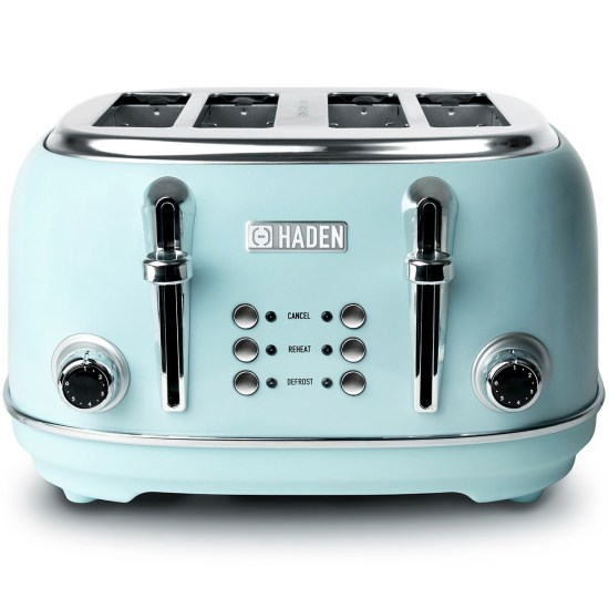 Haden 194244 Heritage 1630W  4-Slice Toaster - Turquoise