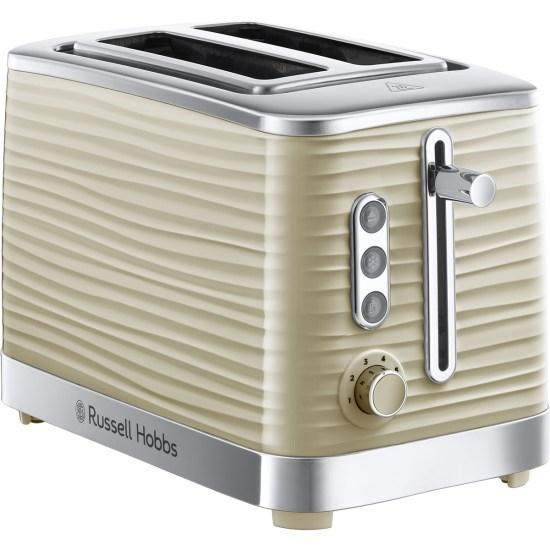 Russell Hobbs 24374 Inspire 1050W Wide Slot 2-Slice Toaster - Cream
