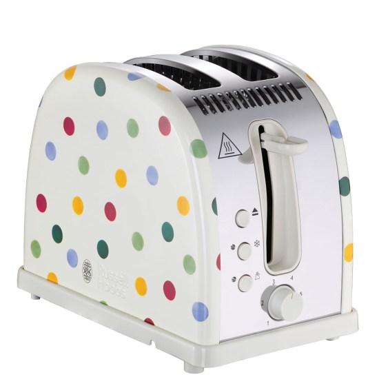 Russell Hobbs 21295 Emma Bridgewater 2400W Polka Dot 2-Slice Toaster - Cream