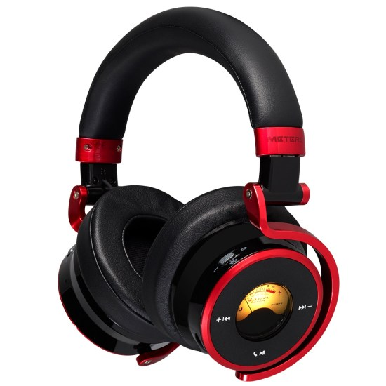 Meters Connect Over Ear Bluetooth Active Noise Cancelling Headphones - Black & Red