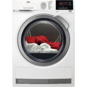 AEG SensiDry Technology Free Standing Condenser Tumble Dryer in White