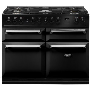 AGA Masterchef MDX110DFBLK Masterchef Deluxe 110cm Dual Fuel Range Cooker 121210 - BLACK