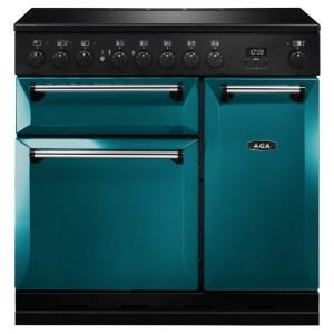AGA Masterchef MDX90EISAL Masterchef Deluxe 90cm Induction Range Cooker - SALCOMBE BLUE