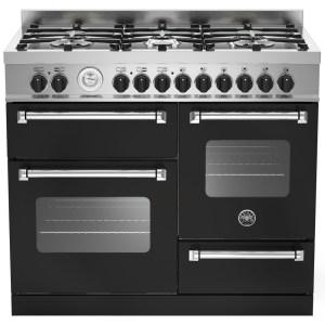 Bertazzoni MAS100-6-MFE-T-NEE 100cm Master XG Dual Fuel Range Cooker - BLACK