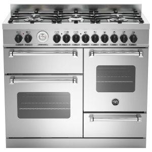 Bertazzoni MAS100-6-MFE-T-XE 100cm Master XG Dual Fuel Range Cooker - STAINLESS STEEL