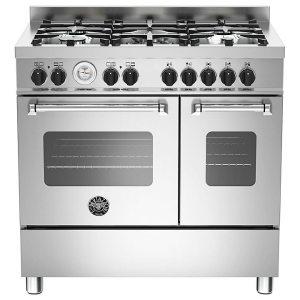 Bertazzoni MAS90-5-MFE-D-XE 90cm Master Dual Fuel Twin Range Cooker - STAINLESS STEEL