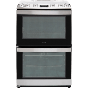AEG CKB6540ACM 60cm Dual Fuel Cooker - Stainless Steel - A/A Rated
