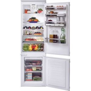 Hoover H-FRIDGE 500 BHBF182NUK Integrated 70/30 Frost Free Fridge Freezer with Sliding Door Fixing Kit - White - A+ Rated