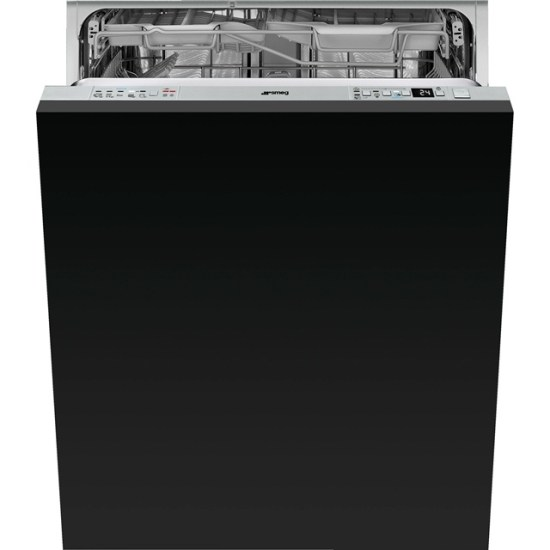 Smeg DI613PMAX Fully Integrated Standard Dishwasher - Stainless Steel Control Panel with Sliding Door Fixing Kit - A+++ Rated