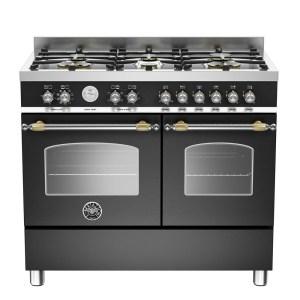 Bertazzoni HER100-6-MFE-D-NET 100cm Heritage Dual Fuel Range Cooker - BLACK