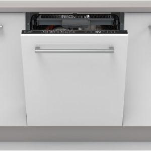 Sharp QW-NI54I44DX-EN Fully Integrated Standard Dishwasher - Black Control Panel - A+++ Rated
