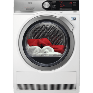 AEG T9DEC866R 8Kg Heat Pump Tumble Dryer - Stainless Steel - A+++ Rated
