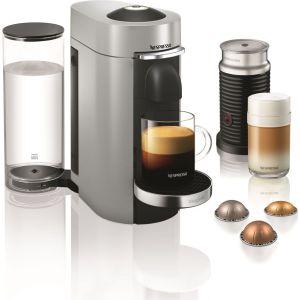 NESPRESSO by Magimix Vertuo Plus Coffee Machine with Aeroccino - Silver, Silver