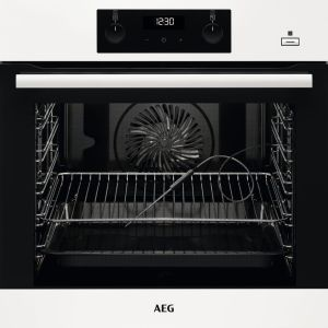 AEG SteamBake BES356010W Electric Steam Oven - White, White