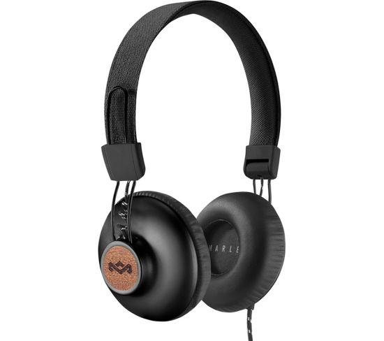 HOUSE OF MARLEY Positive Vibration 2.0 Headphones - Black, Black