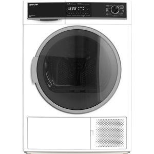 SHARP KD-HHH8S7GW2-EN 8 kg Heat Pump Tumble Dryer - White, White