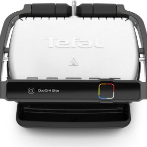 TEFAL Optigrill Elite GC750D40 Smart Health Grill - Silver & Black, Silver