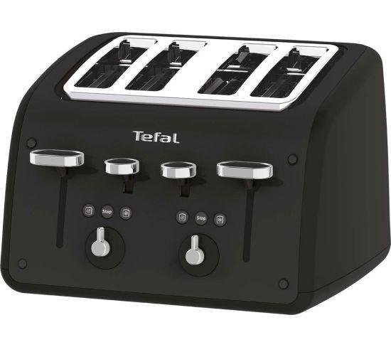 TEFAL Retra TF700N40 4-Slice Toaster - Matt Black, Black