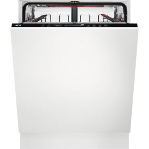 AEG AirDry Technology FSS63607P Full-sizeFully Integrated Dishwasher, Red
