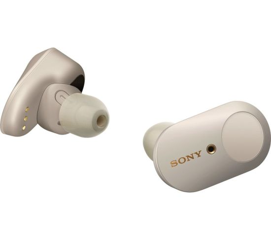 SONY WF-1000XM3 Wireless Bluetooth Noise-Cancelling Earbuds - Silver, Silver