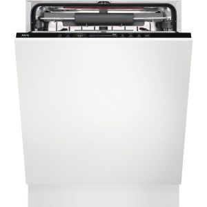 AEG ComfortLift FSS62807P Full-size Fully Integrated Dishwasher, Red