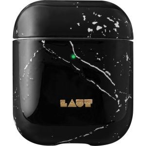 LAUT Huex Elements AirPods Case Cover - Marble Black, Black