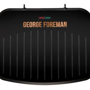 GEORGE FOREMAN 25811 Medium Fit Grill - Black & Copper, Black