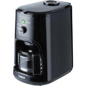 TOWER T13005 Bean to Cup Coffee Machine - Black, Black
