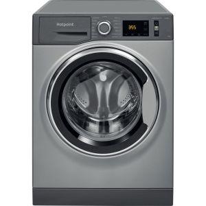 HOTPOINT NM11 844 GC A UK N 8 kg 1400 Spin Washing Machine – Graphite, Graphite