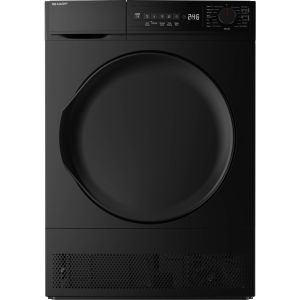 SHARP KD-NCB8S7PB9-EN 8 kg Condenser Tumble Dryer - Black, Black