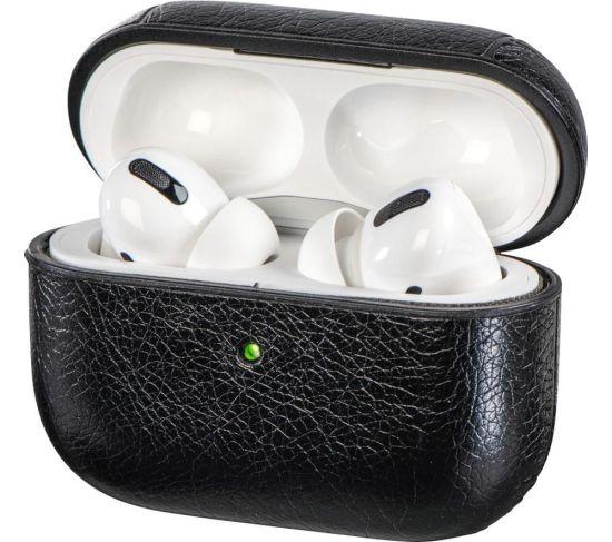 HAMA 122068 AirPods Pro Faux Leather Case - Black, Black