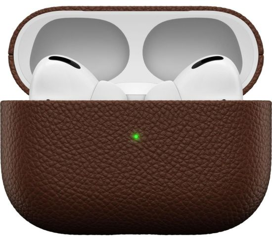 KEYBUDZ PodSkinz Artisan AirPods Pro Leather Case Cover - Natural Brown, Brown