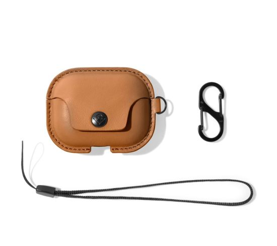 TWELVE SOUTH AirSnap AirPod Pro Case Cover - Brown, Brown