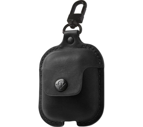 TWELVE SOUTH AirSnap AirPod Leather Case Cover - Black, Black