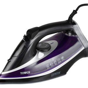 TOWER CeraGlide Ultra Speed T22013PR Steam Iron - Purple, Purple