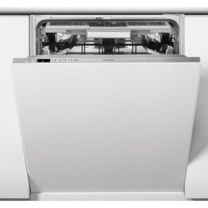 Whirlpool WIO3O33PLESUK Fully Integrated Standard Dishwasher - Stainless Steel Effect Control Panel with Fixed Door Fixing Kit - A+++ Rated