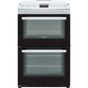Zanussi ZCG43250WA 55cm Gas Cooker with Full Width Electric Grill - White - A/A Rated